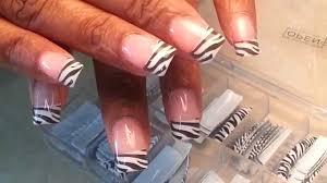 Zebras Acrylic Nails Tips Designs