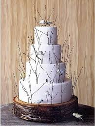 Birch Twigs Circle This Wedding Cake To Match A Spring Or Garden Theme Personally I Think One Has Too Many But Love The Idea
