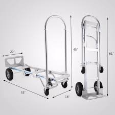 VEVOR Hand Truck 2 In 1 Aluminum Hand Truck 770LBS 61Inch Height ... Amazoncom Harper Trucks 700 Lb Capacity Supersteel Convertible Tiertonk Heavy Duty Large Metal Garden Cart Truck Trolley 4 4wheel Cylinder Hand With Worktable Conwin 30220 1 Piece Cosco Shifter 300 2in1 And Magline Stk8aa1 Alinum Wheel Foldable Loop Handle Folding 70 Kg155 Lbs 2 In Professional Appliance Dolly Moving American Equipment Multimover Xt Rear Shop 300lb Silver Steel At Lowescom Iron Bull Ph150 Platform H End 2232018 455 Pm