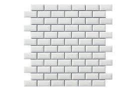 Miniature Metro White Mosaic Tile 30x30cm