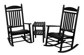 Rocker Jefferson 3-Piece Rocking Chair Set Polywood Pws11bl Jefferson 3pc Rocker Set Black Mahogany Patio Wrought Iron Rocking Chair Touch To Zoom Outdoor Cu Woven Traditional That Features A Comfortable Curved Seat K147fmatw Tigerwood With Frame Recycled Plastic Pws11wh White Outdoor Resin Rocking Chairs Youll Love In 2019 Wayfair Wooden All Weather Porch Rockers Vermont Woods Studios