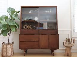Bobs Furniture China Cabinet by Name Brand Stanley Vintage Mid Century Modern Hutch China Cabinet