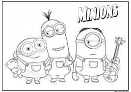 Minion Coloring Pages 1