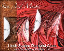 1 inch square glass for pendants jewelry and