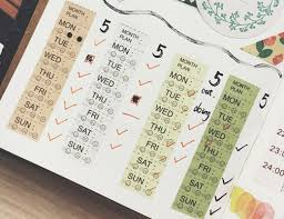 Halloween Washi Tape Australia by Daily Mood Tracker Washi Tape Days Of The Week Schedule Washi