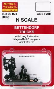 Micro-Trains N Scale Bettendorf Trucks (with Long Extension Couplers ...