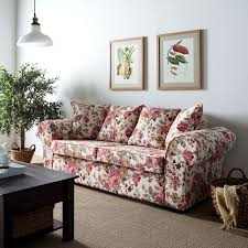 maison belfort sofa colmar 3 sitzer beige altrosa braun grün webstoff 217x84x90 landhaus