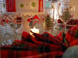 Spode Christmas Tree Wine Glasses by Christmas Tablescape With Plaid Napkins And Plaid Scottie Dog Plates