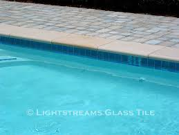 6x6 Glass Pool Tile by Lightstreams Glass Waterline Tile Various Colors