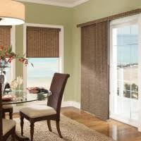 Living Room Blinds Ideas Inspiring Dining Decoration With Round Glass Table And Brown