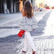 2017 ruffle blouse new 2017 fashion design short sleeve slash neck