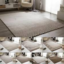 details zu wohnzimmer teppich pleasant touch in grau braun beige creme und hellgrau