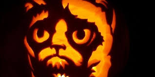 Werewolf Pumpkin Stencil by Grumpy Cat Pumpkin Carving Stencils