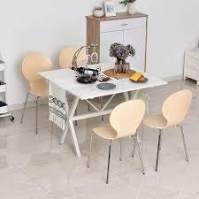 homcom 4 er set esszimmerstühle küchenstuhl holzstuhl für