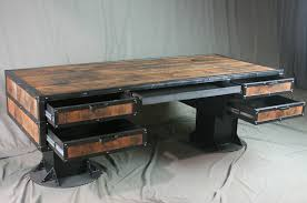 Rustic Industrial Desk With Reclaimed Wood