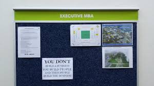 I Recently Came Across This Sign On The Executive MBA Notice Board In Corridor At UCTs Graduate School Of Business Proclaiming YOU DONT BUILD