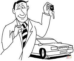 Click The Car Seller Coloring Pages
