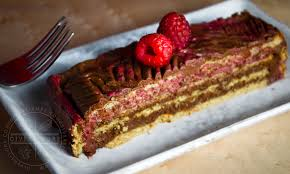 Chocolate Raspberry Rose Icebox Cake