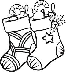 Smart Idea Stocking Coloring Page Free Printable Christmas For Kids Of Two Stockings Print It And