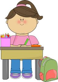 Kid Doing School Work Clip Art Kid Doing School Work Vector Image