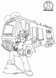 Fire Truck Coloring Page Cool Fireman Sam More On ...
