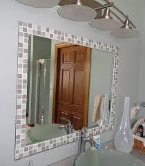 Brown Mosaic Bathroom Mirror by 31 Ideas Of Using Mosaic Tile Around Bathroom Mirror