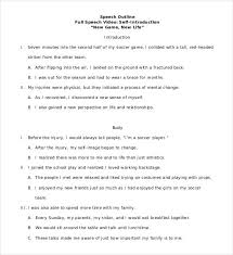 4 Introduction Speech Outline Templates PDF Word