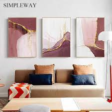 modern abstract canvas painting nordic poster and print wall minimalist artwork wall picture for living room home decoration