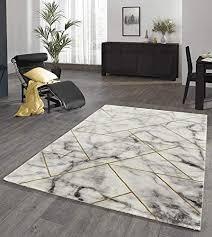 designer teppich wohnzimmer teppich marmor optik mit glanzfasern in grau gold größe 80x150 cm