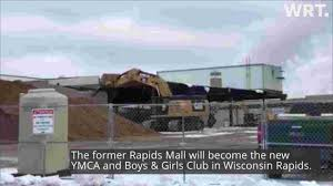 Demolition To The Outside Of The Rapids Mall In Wisconsin Rapids