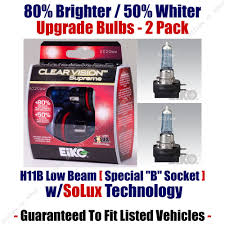 2 pack upgrade headlight bulbs low beam 80 brighter 50 whiter