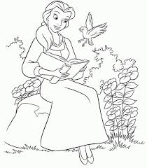 Disney Princess Belle Coloring Pages Online 63258