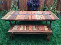 diy reclaimed wood picnic table apartment therapy