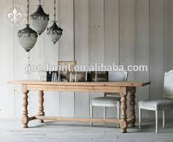 Antique Rustic Style Solid Wood French Dining Table Reproduction Furniture