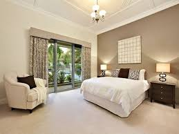 Classic Bedroom Design Idea With Floorboards French Doors Using Beige Colours