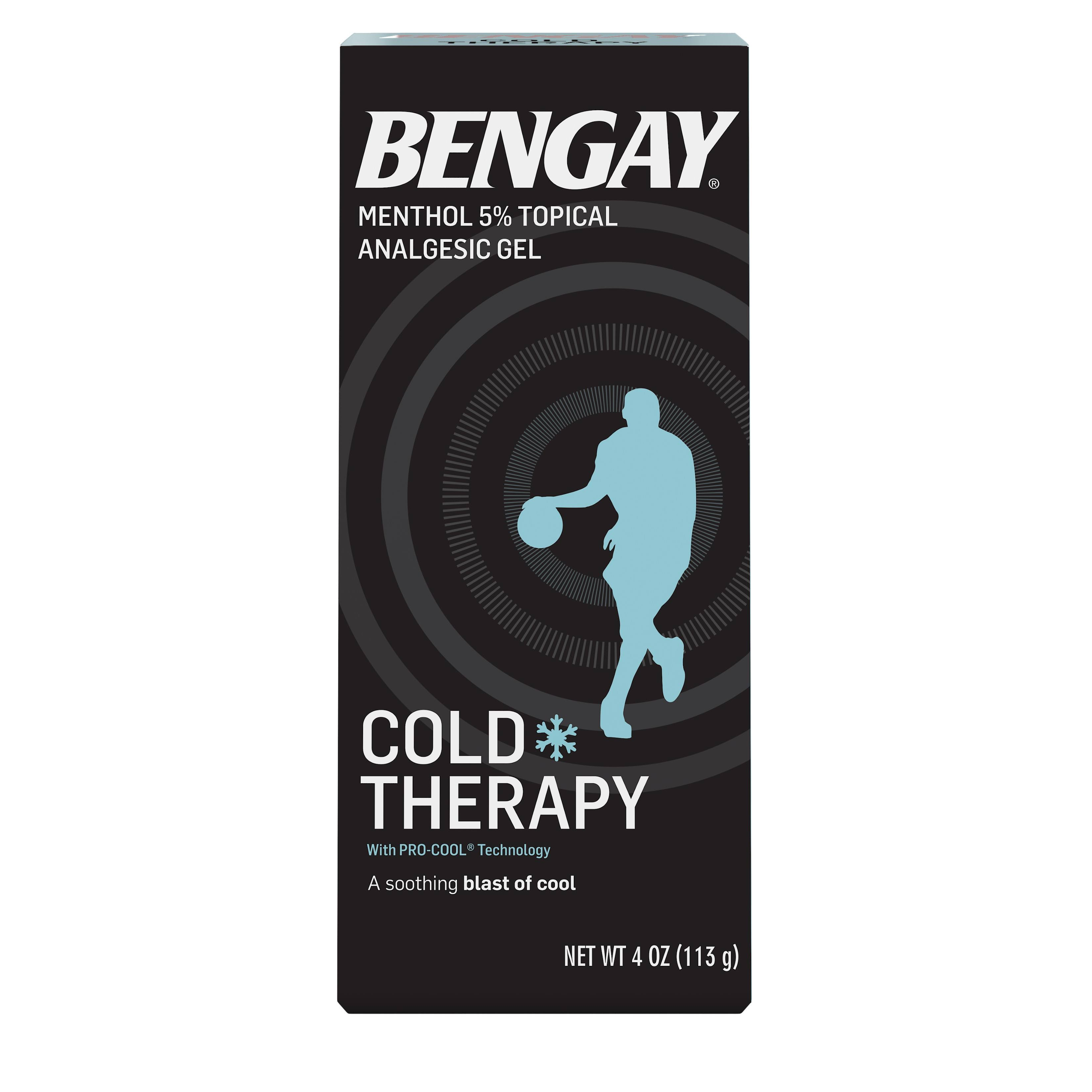 Bengay Cold Therapy Vanishing Scent Menthol Pain Relieving Gel - 4oz