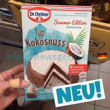 dr oetker backmischung summer edition typ kokosnuss neu