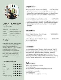 Mint Green Infographic Resume Templates By Canva