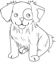 Printable Dog House Coloring Pages Cute Dogs Realistic Free Puppy Large Size