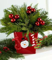 Gather Some Small Fir Branches And Place Them Beautifully In A Red Pot Decorate With These Cute Baubles Your Stunning Tabletop Christmas Is Ready