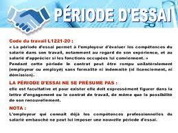 periode d essai cadre le processus de formation du contrat de travail cours de droit