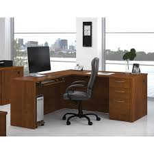 bestar embassy l shape desk free shipping today overstock com