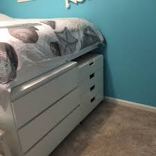 Ikea Nyvoll Dresser Light Grey by Ikea Bed With Drawers Image Of White Bed With Drawers Twin Kids
