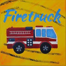 100 Fire Truck Wall Art Truck Wall Art For Boys And Nursery Room 12in12in