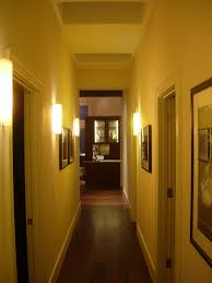 interior hallway with lantern using black iron center pipe and
