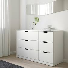 nordli kommode mit 6 schubladen weiß 120x76 cm
