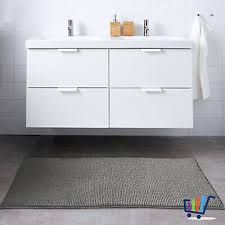 vorleger ikea blanksjön duschmatte 50x80 cm grau vorleger