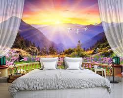 schöne bunte balkon berg schlafzimmer tapete natur landschaft tapeten foto 3d wandbilder für sofa hintergrundbilder