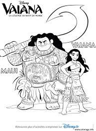 Coloriage Vaiana Et Maui De Disney Vaiana Moana JeColoriecom