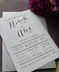 Black And White Modern Wedding Invitations Simple Whimsical